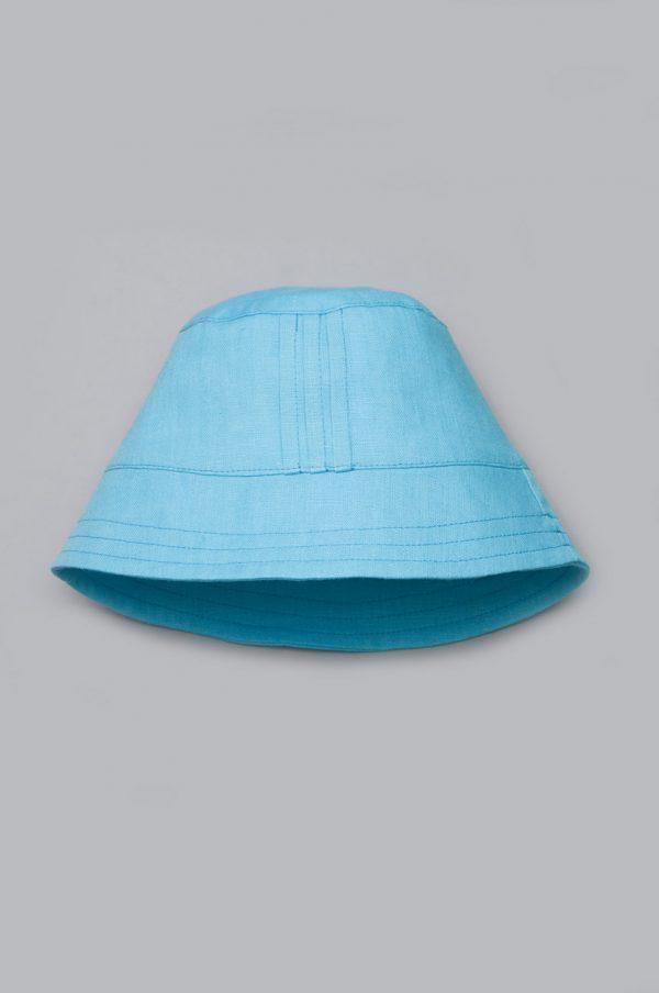 купить панама голубая лен для мальчика