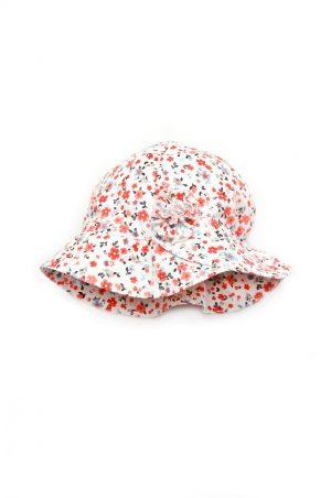 летняя панама в красный цветочек для девочки недорого