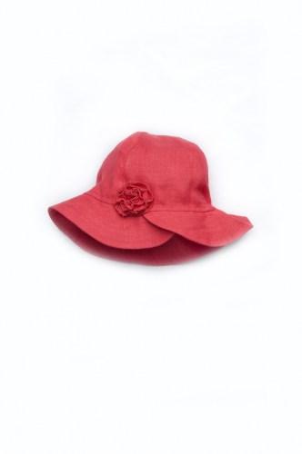 недорогая панама с цветком лен детская
