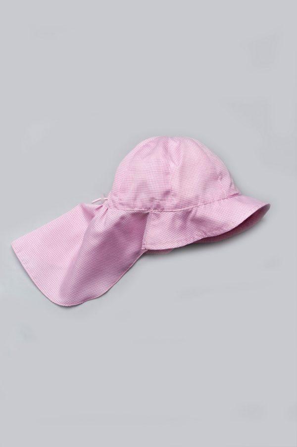 детская панама сафари розовая
