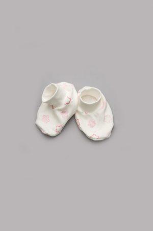 купить пинетки розовые звезды для новорожденной