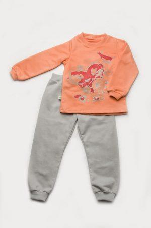 детская пижама футер для девочки