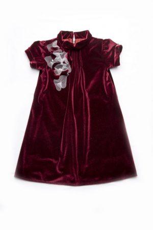 бархатное детское платье бордовое купить Днепр