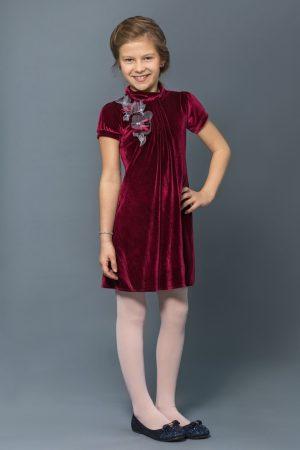 нарядное платье из бархата для девочки купить Днепр