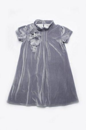 платье из бархата серое купить Харьков