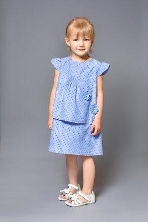 джинсовое легкое платье звездочки для девочки купить