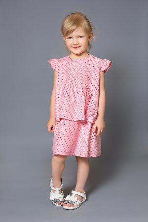 розовое джинсовое платье детской купить с доставкой