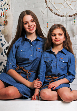 платье джинсовое фэмили лук мама дочка Харьков
