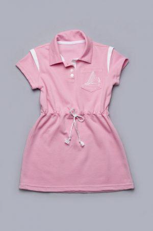 платье розовое лакоста с морской тематикой недорого