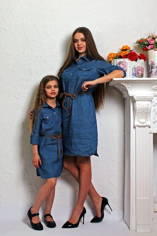Платье для мамы и дочки фэмили лук LikeMe Модный карапуз