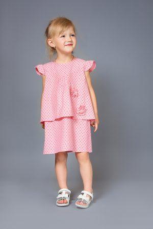 летнее платье с декором для девочки джинс звездочки купить