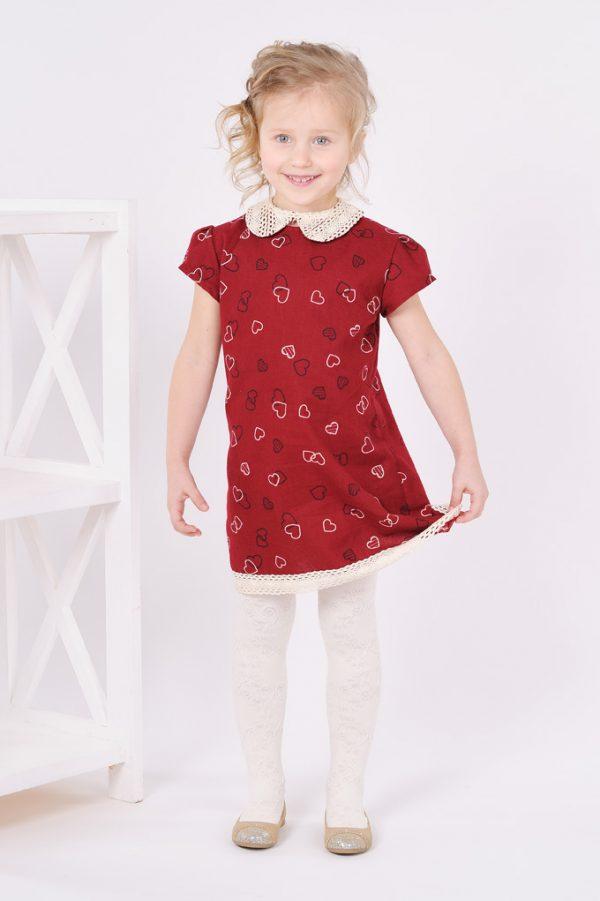 платье для девочки со съемным кружевным воротником купить Украина