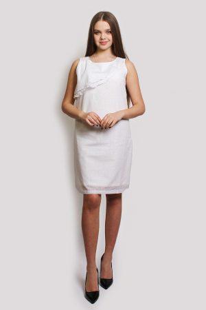 женское платье белое family look для мамы недорого