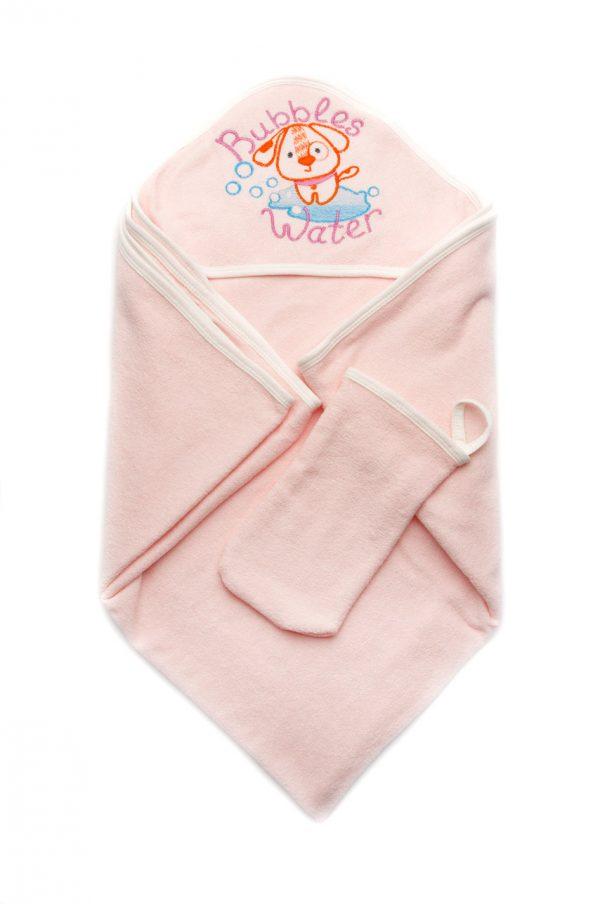 махровое полотенце с рукавичкой для девочки купить Харьков