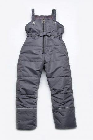 полукомбинезон брюки зима графит для девочки недорого