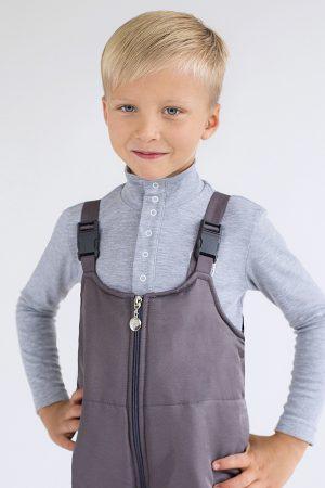 теплый полукомбинезон штаны на фастексах для мальчика недорого