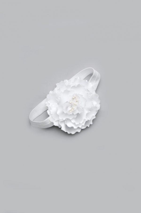 красивый аксессуар на голову повязка белая для девочки