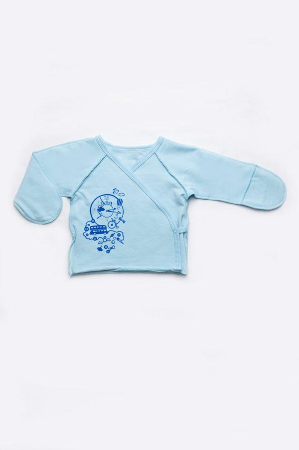 голубая распашонка для новорожденного Харьков