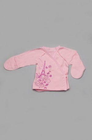 летняя распашонка с закрытыми рукавами для новорожденной девочки купить с доставкой