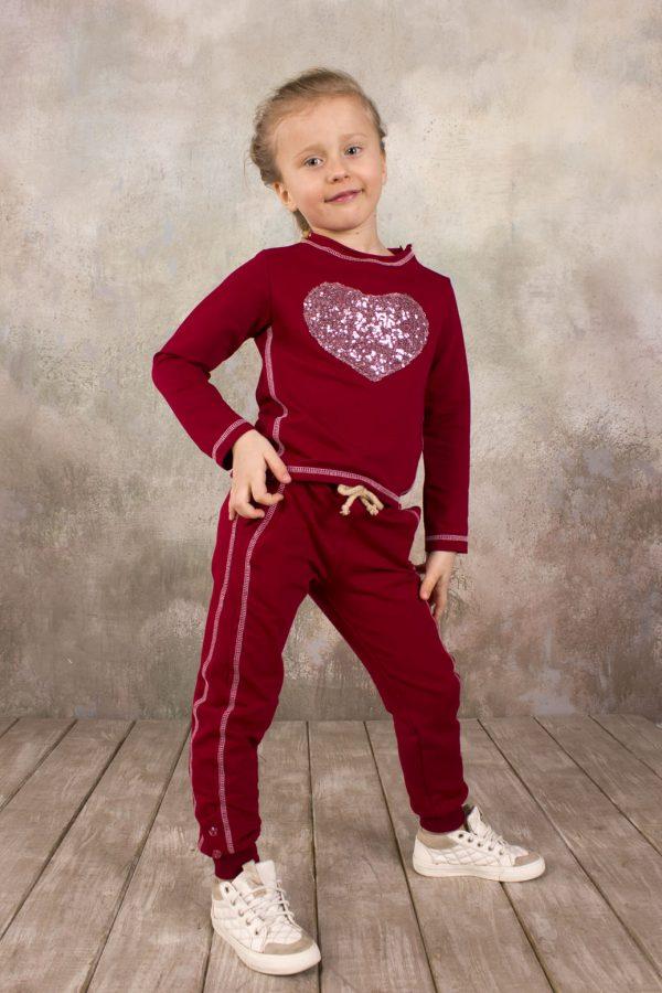 детский бордовый реглан с аппликацией из пайеток купить Харьков