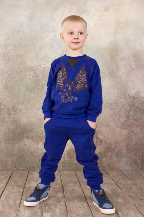 синие брюки в спортивном стиле реглан купить с доставкой