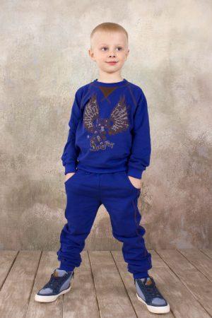 недорогой реглан брюки в спортивном стиле синие для мальчика