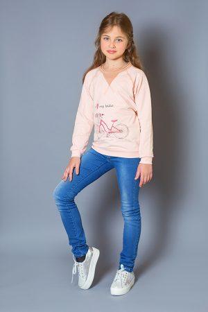 розовый реглан принт велосипед для девочки купить Украина