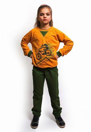 красивый реглан кофта желтая для девочки мальчика купить Киев