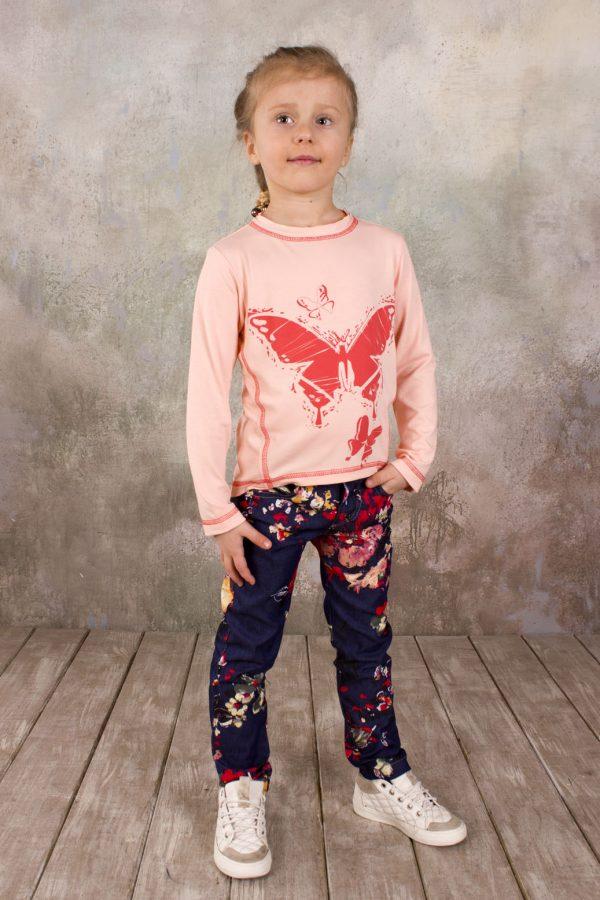 детский реглан с бабочкой вискоза персик купить Харьков