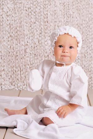 рубашка шапочка мешочек пинетки для крещения мальчика недорого
