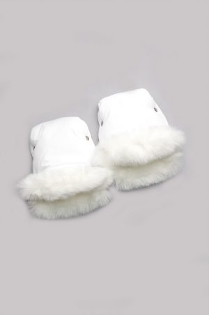 белые рукавички на коляску зимние недорого