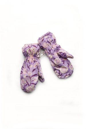 непромокаемые рукавицы для девочки лаванда