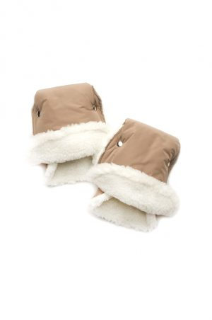 купить бежевые рукавицы муфта на коляску Киев