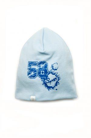 трикотажная шапочка голубая для мальчика Киев