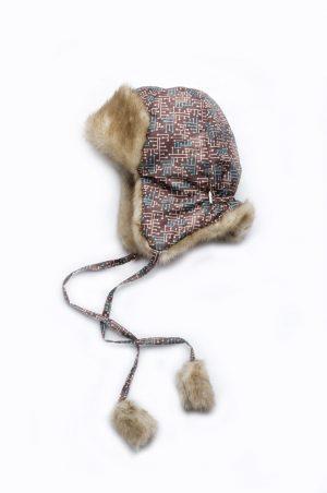 шапка ушанка на завязках зимняя коричневая для мальчика