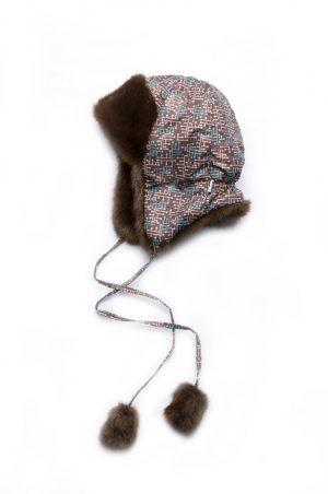 купить зимняя шапка ушанка для мальчика коричневая