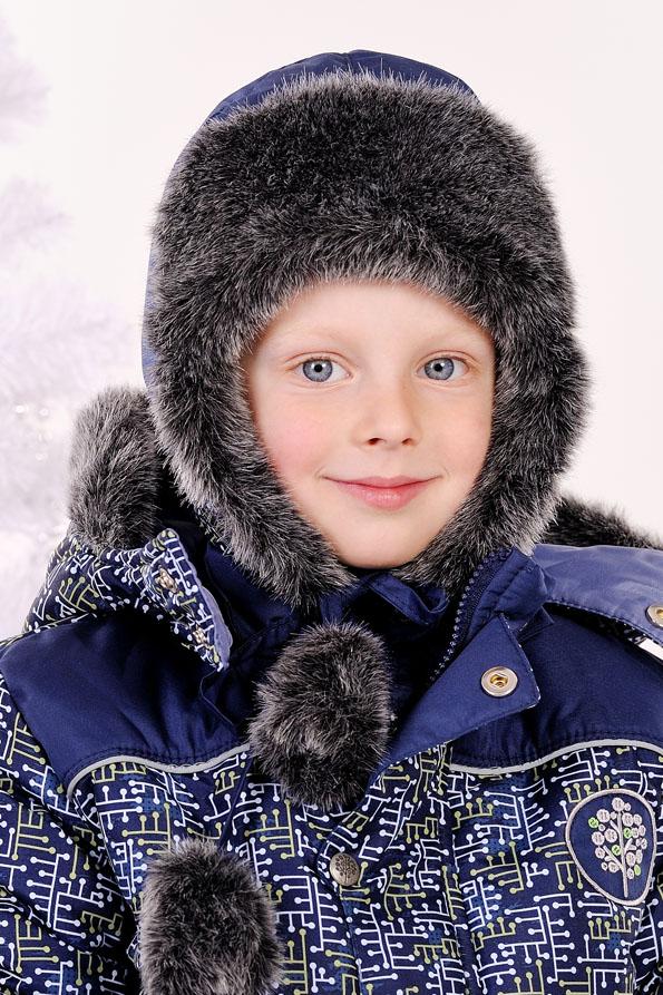 недорогая шапка ушанка на завязках для мальчика
