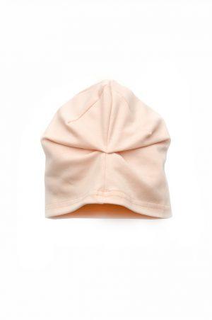 детская шапка с защипом розовая принцесса