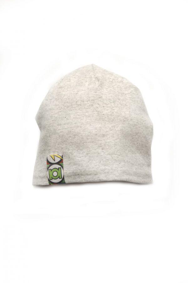 трикотажная шапка деми для мальчика серая