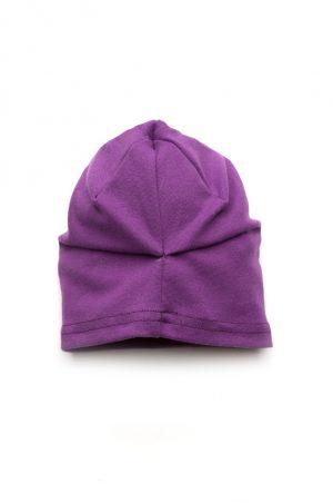 демисезонная шапочка со сборкой на затылке для девочки