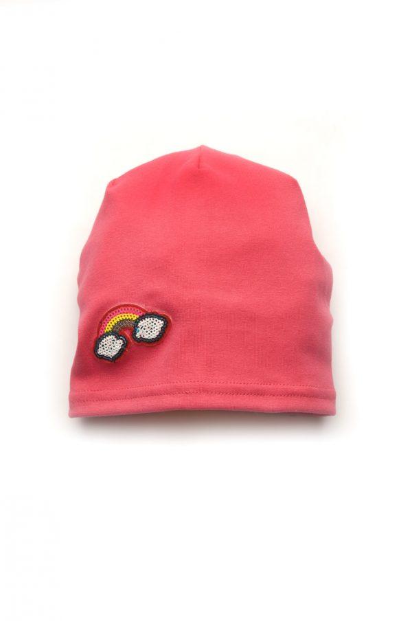 шапочка с аппликацией радуга для девочки купить Киев