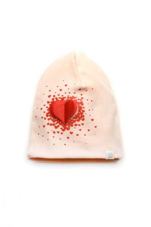 демисезонная шапка для девочки двойной трикотаж