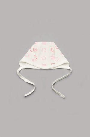 шапочка чепчик розовые звезды для новорожденной купить