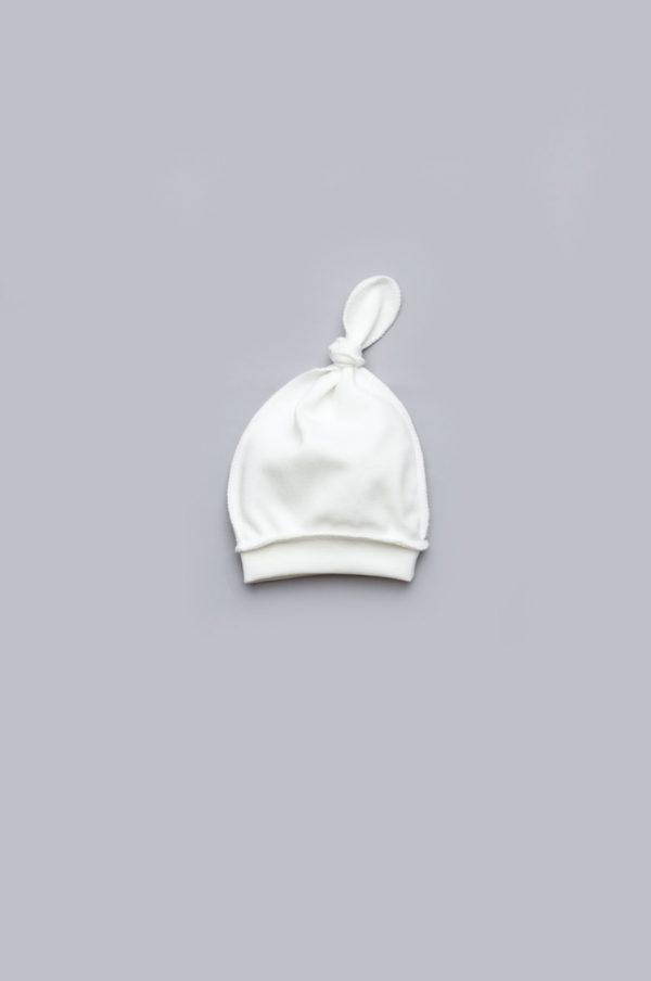 недорогая шапочка с узелком для новорожденных