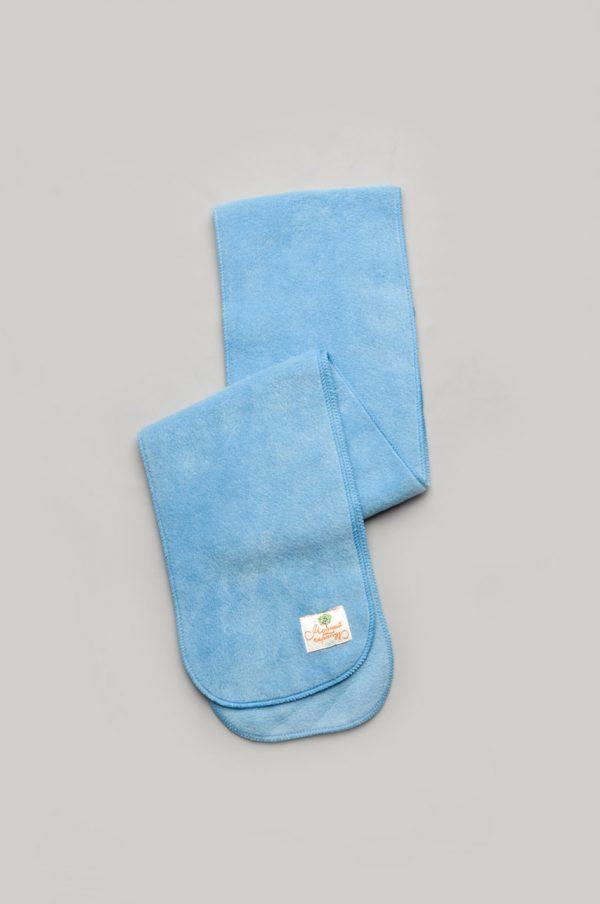 зимний флисовый шарф голубой детский