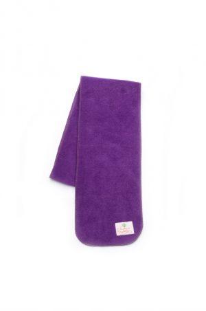 мягкий флисовый шарф детский темная сирень