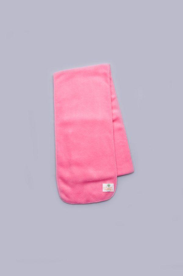 теплый розовый шарф флисовый детский