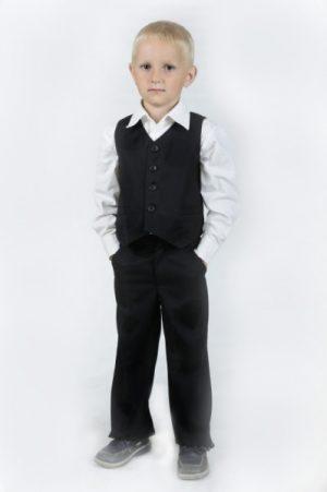 недорогой школьный жилет брюки рубашка для мальчика