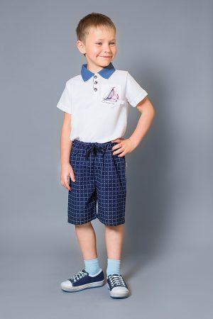 шорты синие футболка поло для мальчика купить Киев