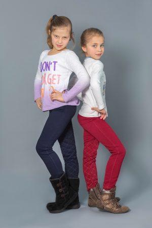 зимние брюки узкие с начесом купить для девочки